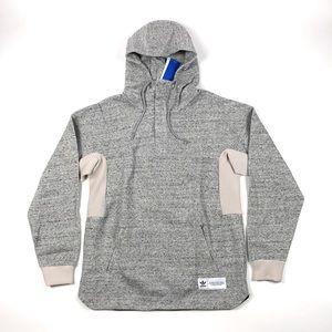 Adidas CR8 Hybrid Gray Pullover Hoodie Sweatshirt